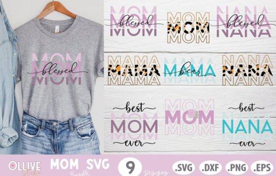 mama svg cut file