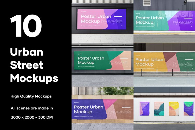 poster mockup is a professional website of high quality poster mockups offered for free to the creative designers around the world. 10 Urban Poster Street Mockups Psd 588015 Branding Design Bundles