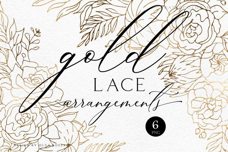 rose gold wedding invitation clipart gold foil leaf floral 941055 illustrations design bundles