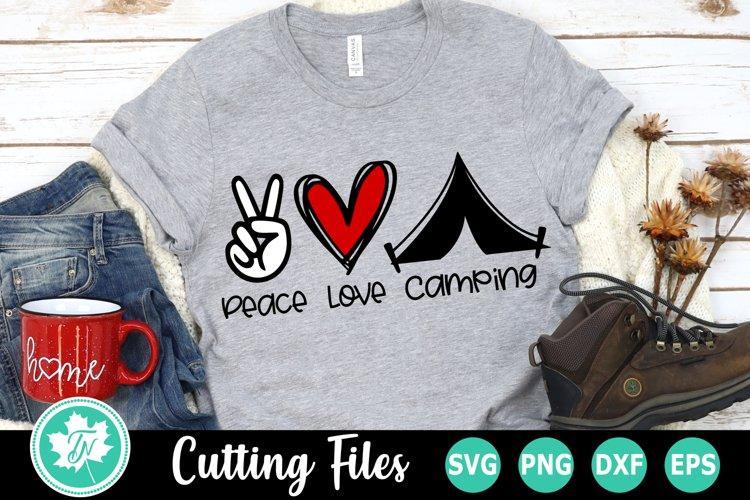 Download Peace Love Camping - A Camping SVG Cut File (599309) | Cut ...