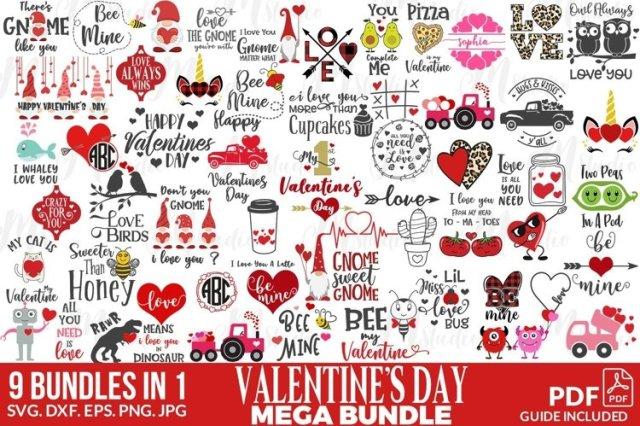 Valentine's craft bundle from Design Bundles