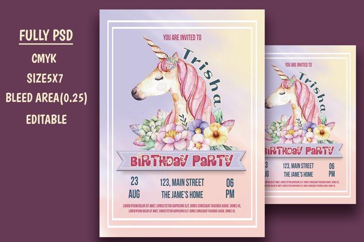 unicorn birthday invitation card 996365 card and invites design bundles