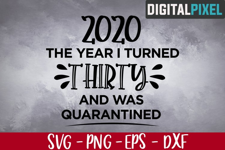 Download This Year I Turned 30 and Was Quarantined SVG, 30th SVG ...
