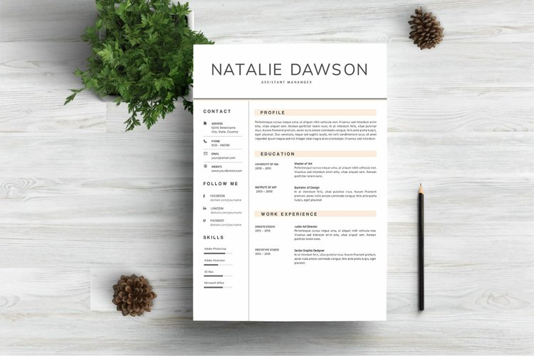 All the main elements are easily editable and customizable. Resume Template For Mac Pages 421802 Resume Templates Design Bundles