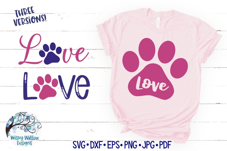 Download Love with Paw Print SVG | Dog Love SVG Cut File (849570 ...
