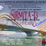 Nirmita 13 – Techno Cultural Festival at GIET, Hyderabad from April 3-4, 2013