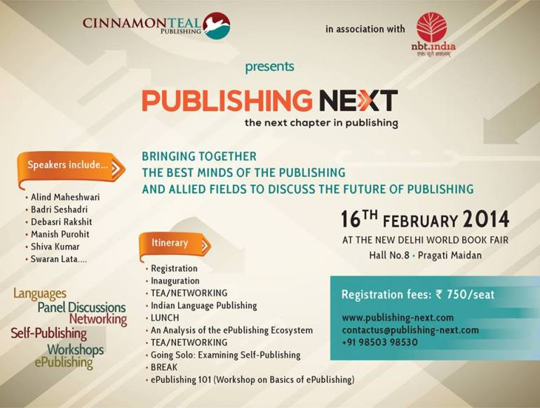 Publishing Next 2014 - Conference in New Delhi on February 16, 2014