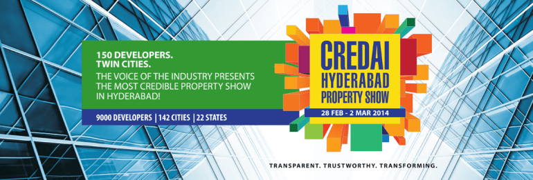 CREDAI Hyderabad Property Show 2014 in Hyderabad from Feb 28 - March 2, 2014