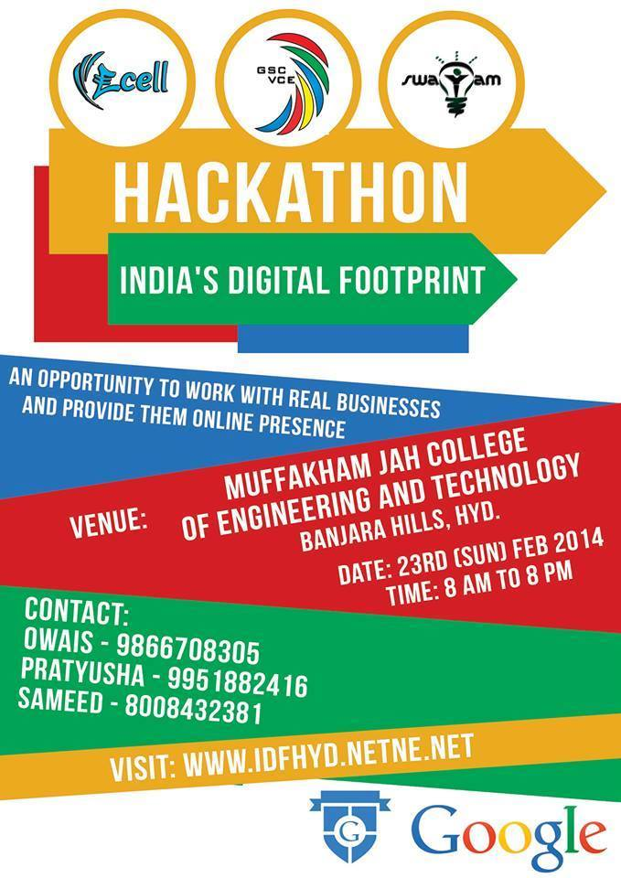 Web Development Hackathon For Students in Hyderabad on February 23, 2014