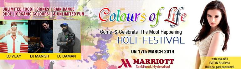 Colours of Life - Holi Bash at Marriott in Hyderabad on March 17, 2014