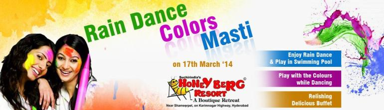 Rain Dance Colors Masti in Hyderabad on March 17, 2014