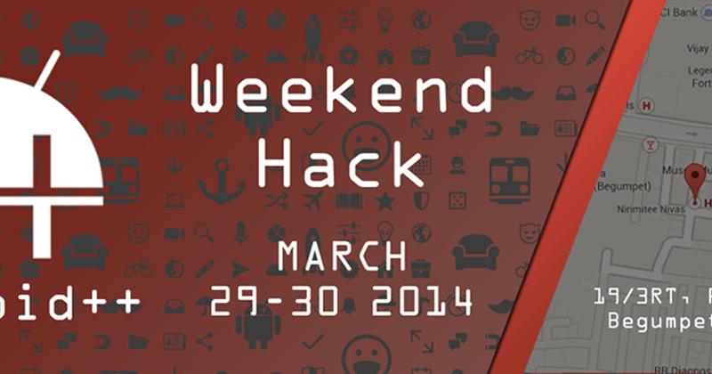 Weekend Hack II from March 29-30, 2014