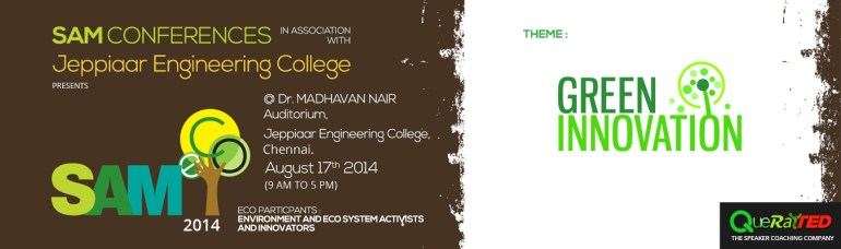 SAM ECO 2014 - Conference in Chennai on August 17, 2014