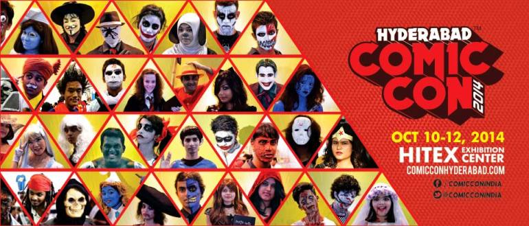 Comic Con 2014 in Hyderabad from October 10-12, 2014