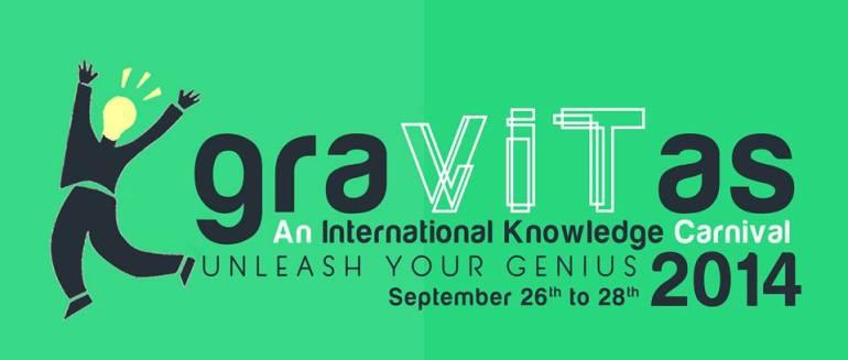 Gravitas 2014 - Annual Tech Fest of VIT from September 26-28, 2014