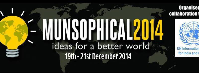 MUNSOPHICAL 2014 - Model United Nations in Mumbai from December 19-21, 2014