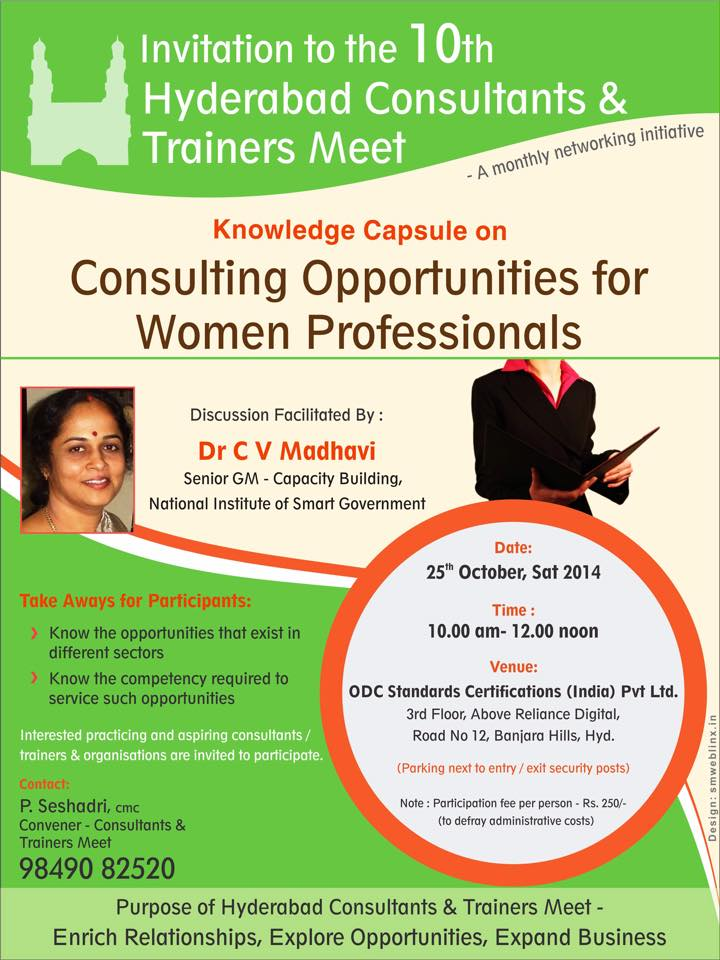 10th Hyderabad Consultants & Trainers Meet in Hyderabad on October