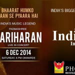 Alive in India – Hariharan Live in Concert in Bangalore on December 6, 2014