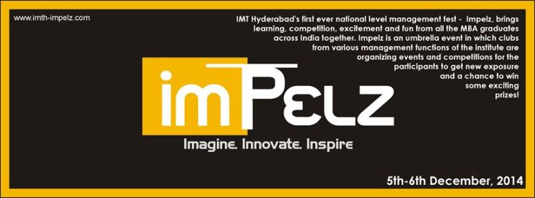 IMPELZ 2014 - Management Fest by IMT Hyderabad from December 5-6, 2014