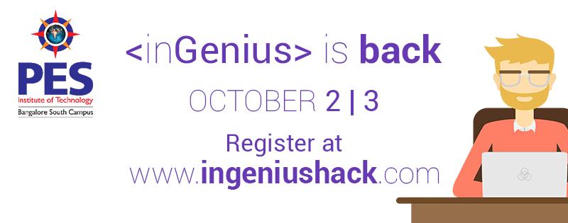 inGenius Hack - Hackathon in Bangalore from October 2-3, 2015