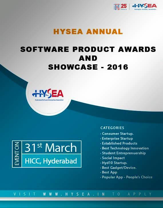 HYSEA Summit & Awards 2016 in Hyderabad on March 31, 2016
