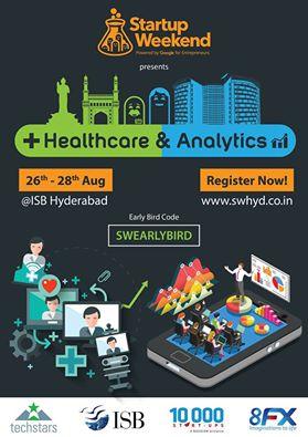 Startup Weekend Hyderabad (Healthcare & Analytics) from August 26-28, 2016