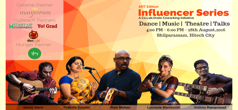 Influencer Series - Art Edition by Co.Lab.Orate in Hyderabad on August 28, 2016