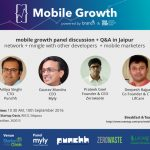 Mobile Growth Meetup at Startup Oasis in Jaipur on September 10, 2016
