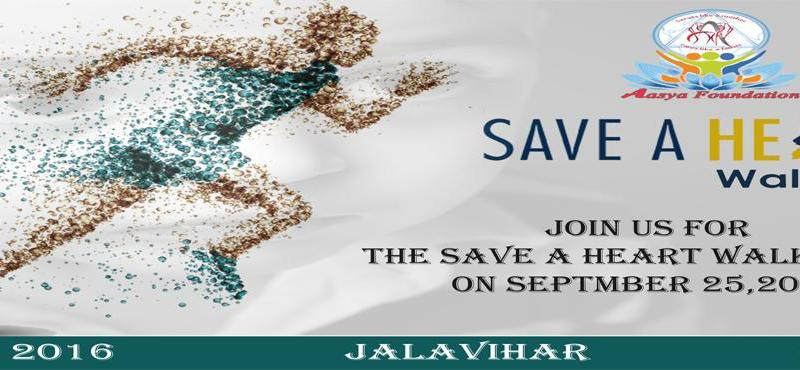 Save A Heart Walkathon in Hyderabad on September 25, 2016