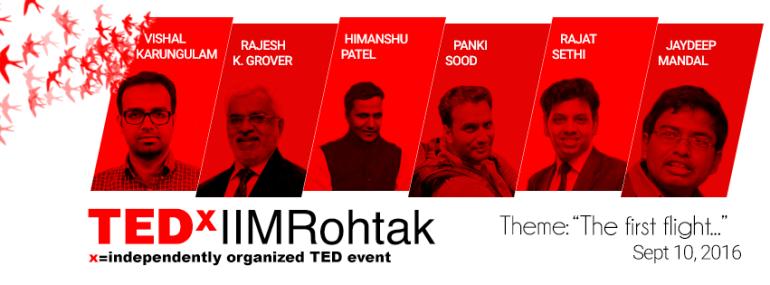 TEDx IIMRohtak on September 10, 2016