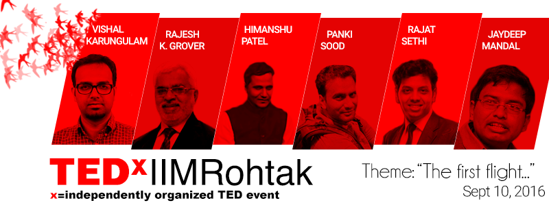 TEDx IIMRohtak on September 10, 2016