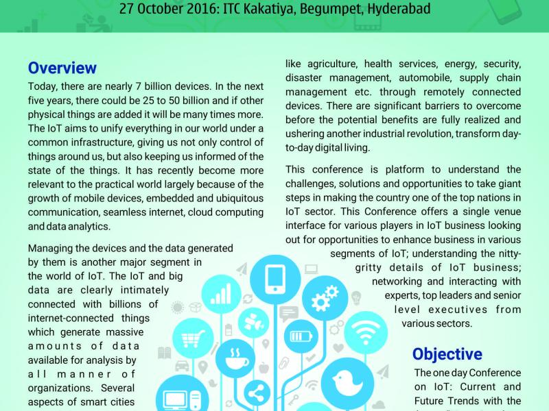 Conference on Internet of Things (IoT) in Hyderabad on October 27, 2016