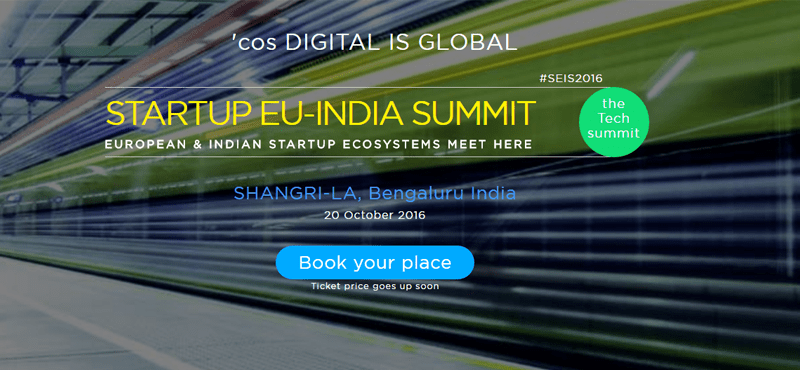 StartUp EU-INDIA Summit in Bengaluru on October 20, 2016