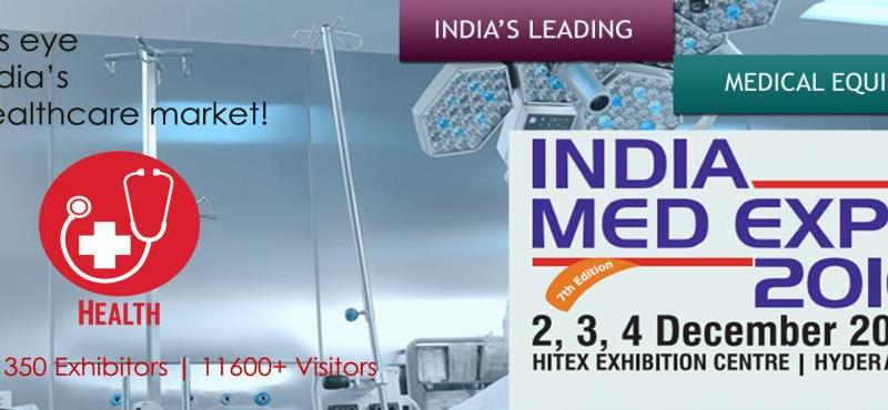 7th India Med Expo 2016 in Hyderabad from December 2-4, 2016
