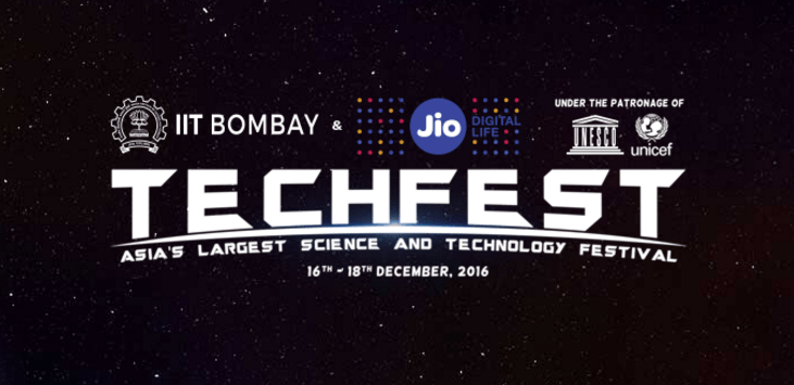 TechFest 2016 in IIT Bombay from December 16-19, 2016