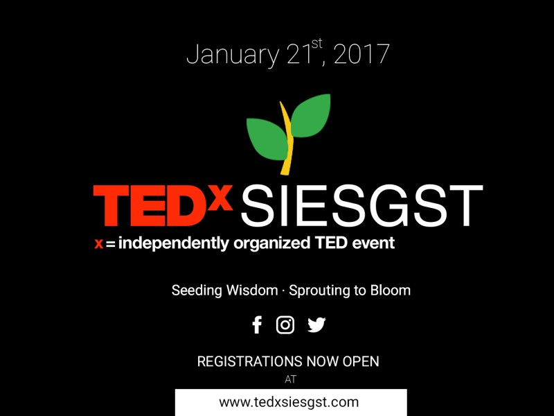 TEDxSIESGST in Mumbai on January 21, 2017