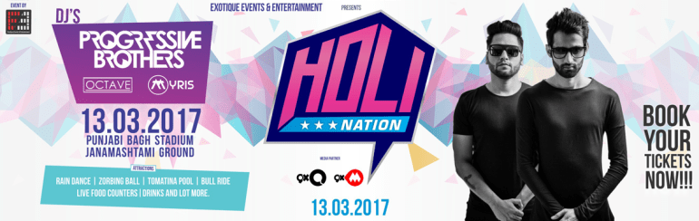 Holi Nation 2017 in New Delhi on March 13, 2017