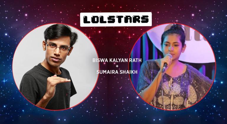 LOLStars Biswa Kalyan Rath & Sumaira Shaikh in Hyderabad on November 18, 2017