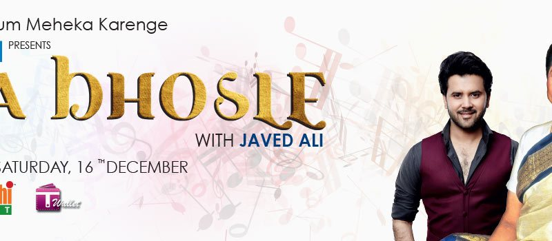 Asha Bhosle with Javed Ali Live in Hyderabad on December 16, 2017