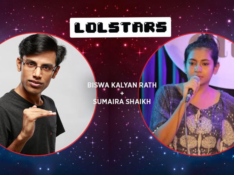 LOLStars Biswa Kalyan Rath & Sumaira Shaikh in Pune on December 3, 2017