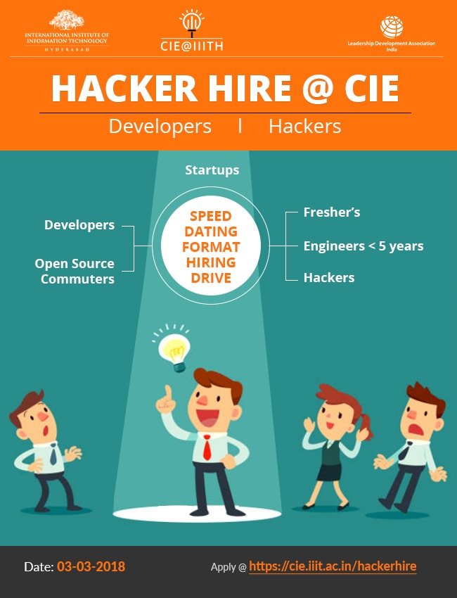 Hacker Hire at CIE, IIIT Hyderabad on March 3, 2018 - Fests info