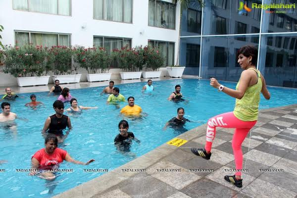 Aqua Zumba with Neha in Hyderabad on April 29, 2018
