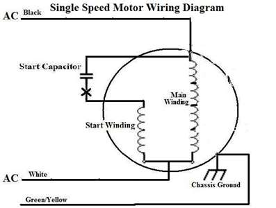 Single Phase Motor Capacitor Connection Diagram