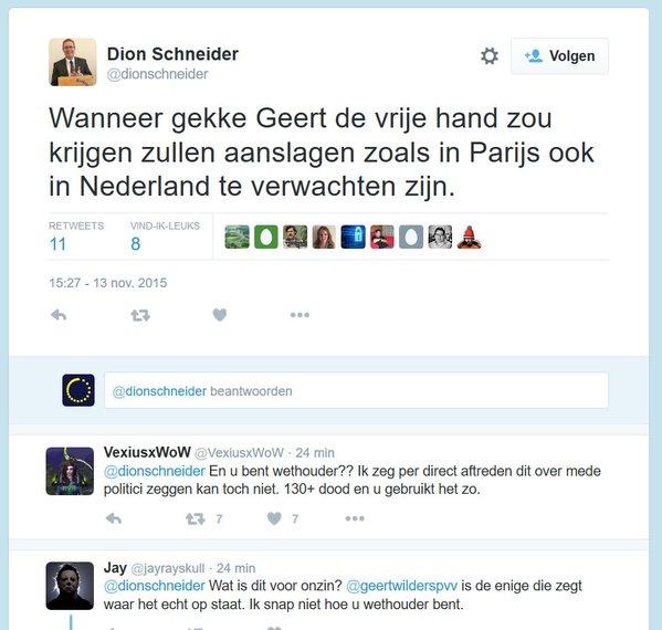 Aanslagen zijn de schuld van Wilders. Allemaal.