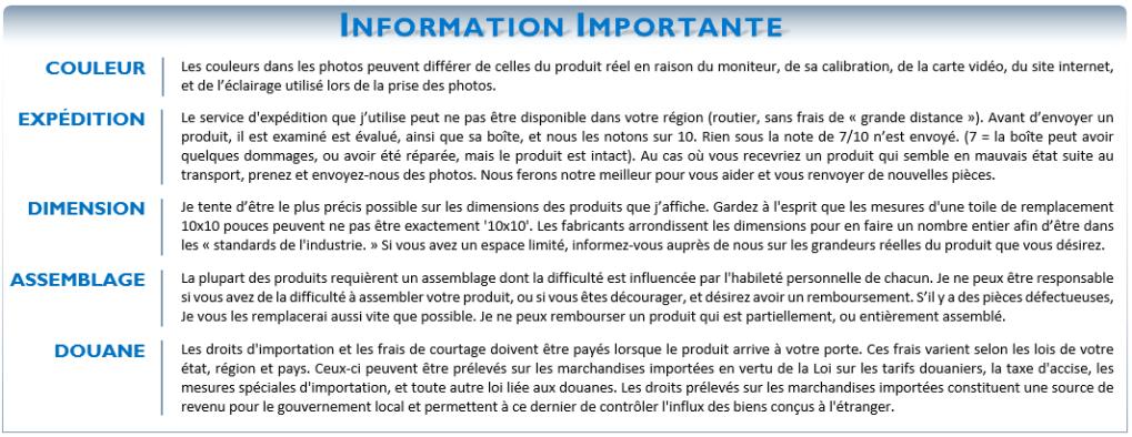Information Importante (Grand Format)