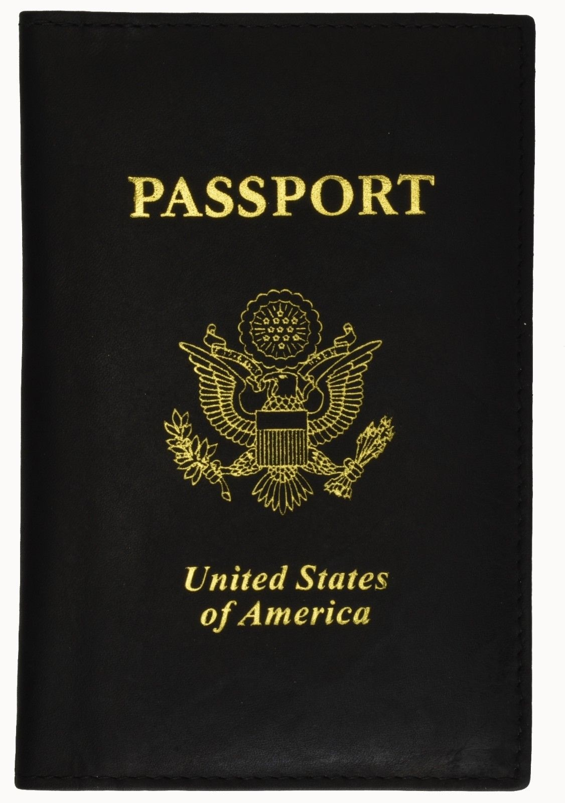 Genuine Leather Us Passport Cover Id Holder Wallet Travel