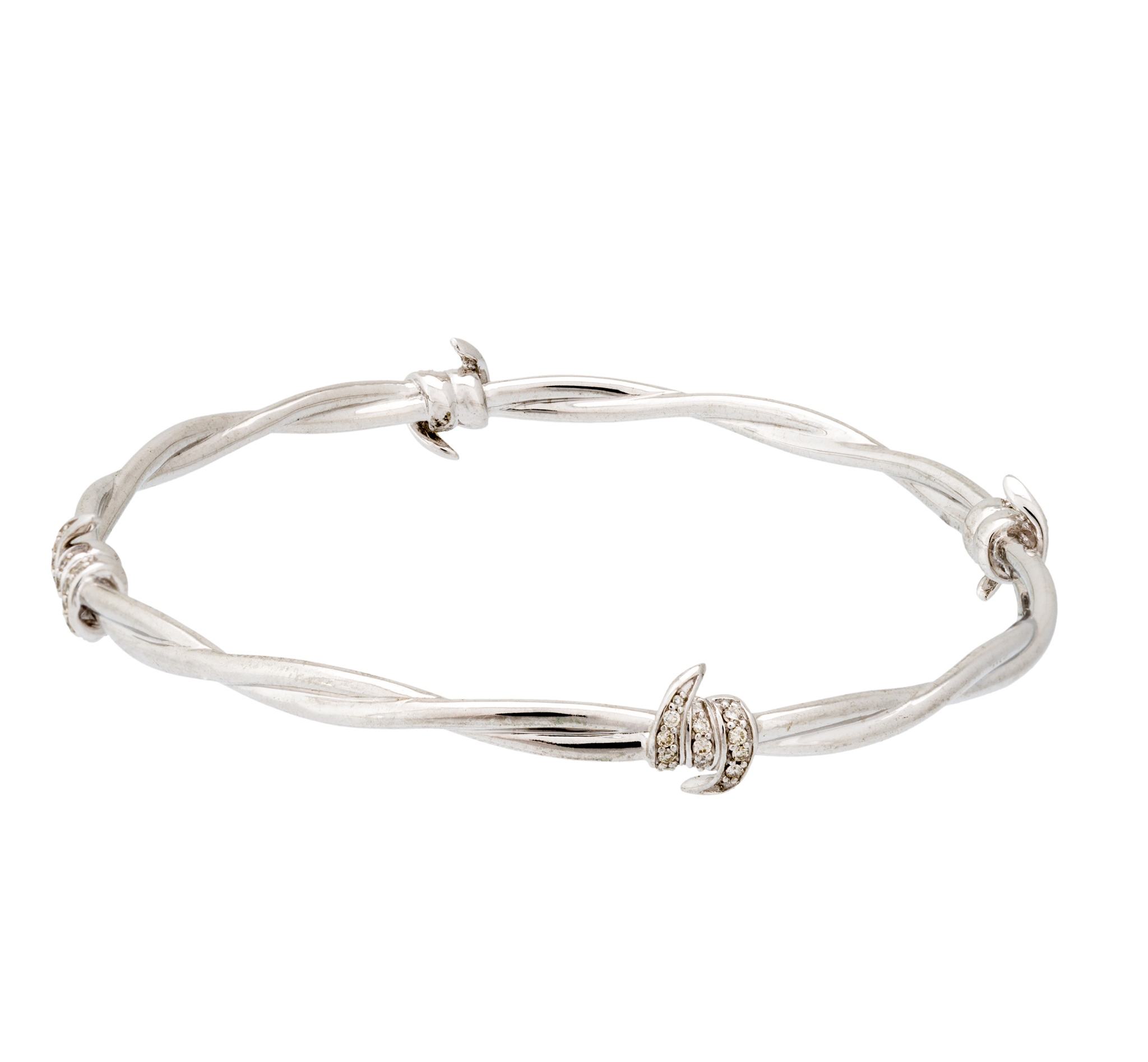 Stephen Webster Forget Me Knot Diamond Barb Wire Bangle