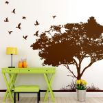 Details About Flying Birds On Tree Wall Decal Sticker Great For Bedroom Or Living Room 6054