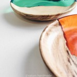 Decorative Plates Handmade Various Colors Epoxy Resin Maple Wooden Dishes Ebay