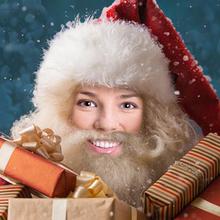 Make me Santa! Put your face on Santa to make an Xmas card